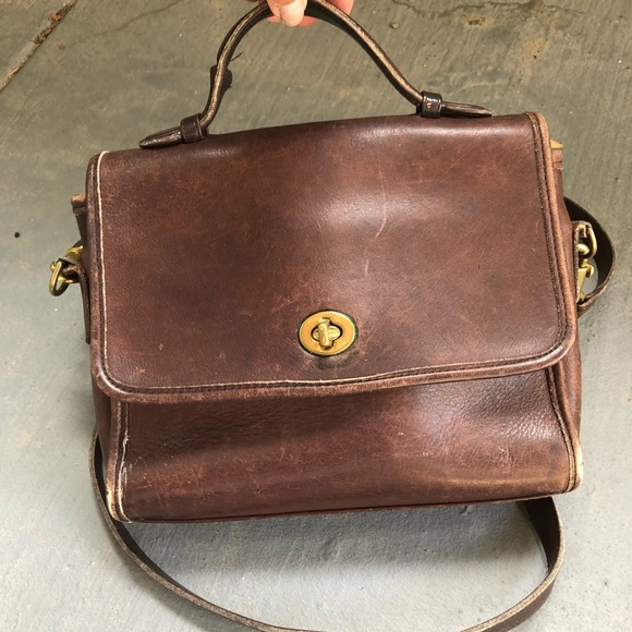 Coach Bags   Vintage Brown Leather Mini Satchel   Poshmark 3e804ede86